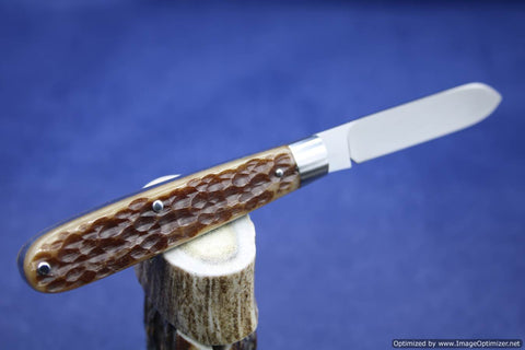 Todd Davison Custom Brown Jig Bone Folder...Special Jigging...Gorgeous.   #1635