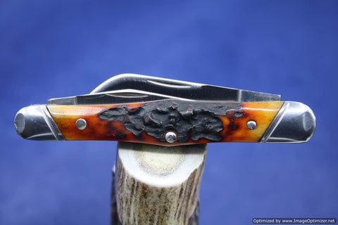 Tuna Valley Cutlery India Amber Stag Carpenter Whittler. #551