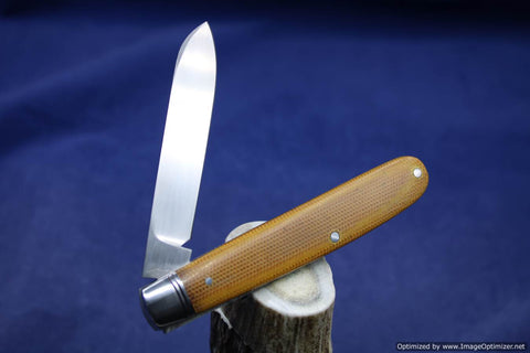 Todd Davison Custom Canvas Micarta Folder #1647