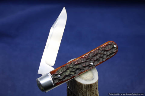 Todd Davison Custom Red Jig Bone Folder.  #1648