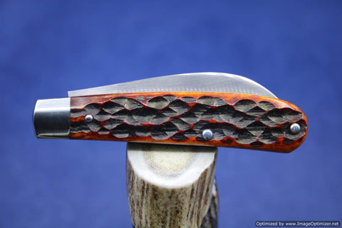 Todd Davison Custom  Red Jig Bone Sway Back Folder #1656