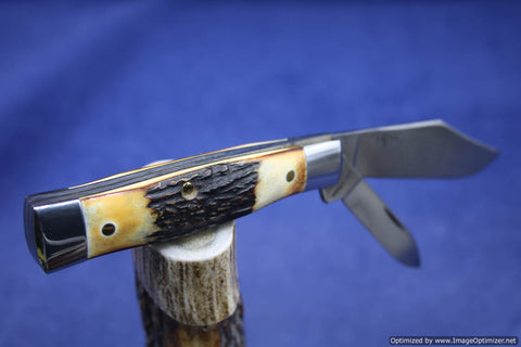 Schatt & Morgan #40 Genuine Torched Stag Gunstock 1 of 30. #1074