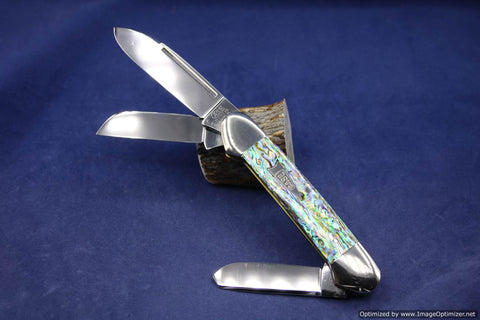 Case Classic 8394 Genuine Heart Abalone Pearl Gunboat Prototype.