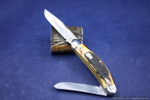 Schatt & Morgan #60 Two Blade Stag Sowbelly, Short Run of 50. #463