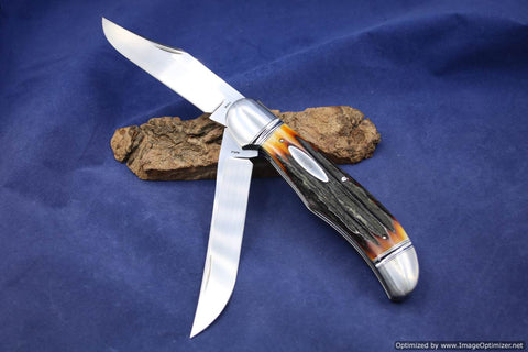 Bill Ruple Large Two Blade Folding Hunter.