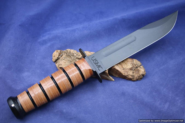 Ka Bar Bowie Single Mark Full Size Fixed Blade 7 Quot Black