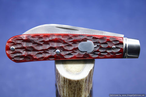 Todd Davison  Red Jig Bone Sway Back Folder.  #1766.