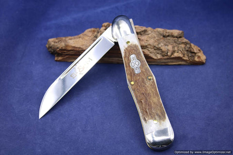 Schatt & Morgan #83 File & Wire Elk Jumbo Whittler. Short Run 1 of 16. #939