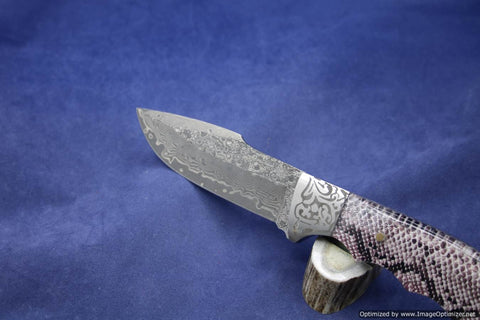 Jim Craig Exotic Python Handled Fixed Blade.