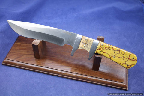 Jim Craig Exotic Composit Dinasaur Bone and Steller Sea Cow Handled Fixed Blade.