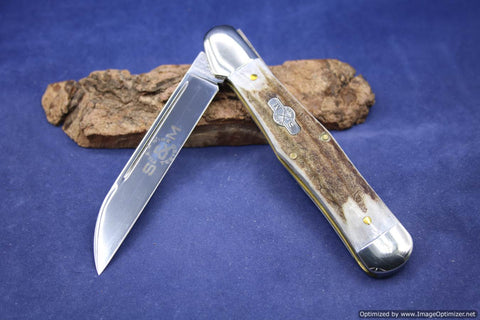 Schatt & Morgan #83 File & Wire Elk Jumbo Whittler. Short Run 1 of 16.  #941