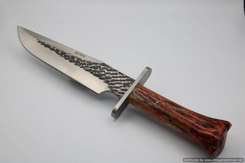 Jim Craig Exotic Zebra Bone Handled Bowie Knife. #1907