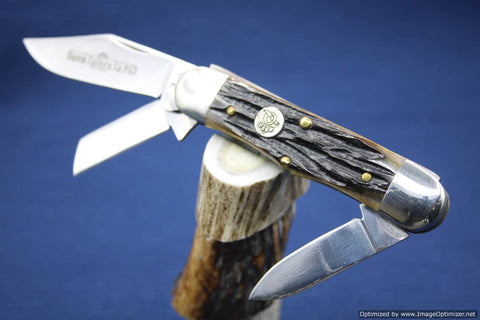 Queen Cutlery #63 Stag Bone Railsplitter. #461-464