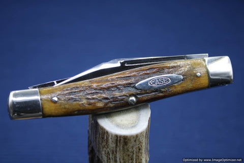 Case Knives (Vintage) Case Tested XX-(1920-1940) 5375 Long Pull Big Stockman with Gorgeous Stag.