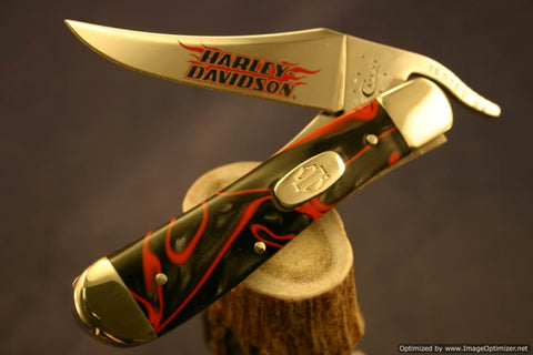Case Harley-Davidson Lava Kirinite Russlock Knife. #93-95