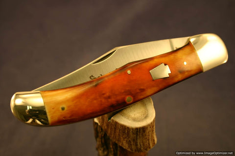 Schatt & Morgan #44 Folding Hunter Burnt Orange Bone Short Run 1 of 50. #602-612