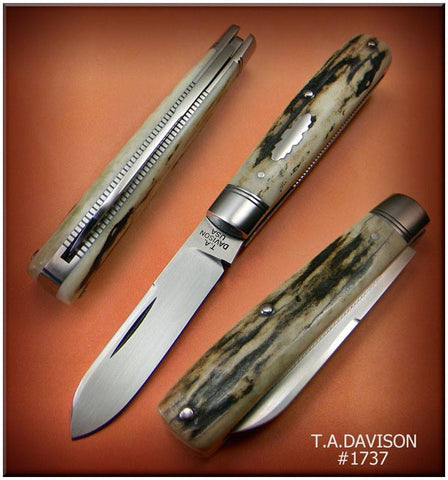 Todd Davison White Stag Folder Knife. #1737