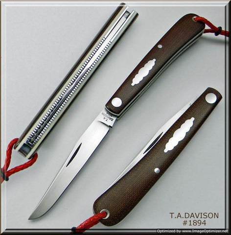 Todd Davison Canvas Micarta Shadow Pattern #1894.