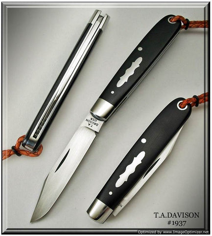 Todd Davison Black Canvas Micarta,  #1937.
