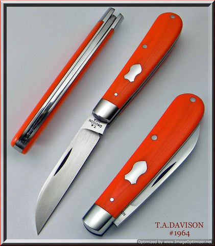 Todd Davison Custom Orange G-10 Sway Back.  #1964
