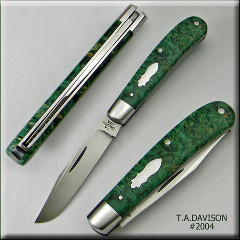 Todd Davison Custom Green Box Elder Burl #2004