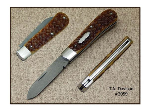 Todd Davison Custom Bourbon Bone Folder. #2059