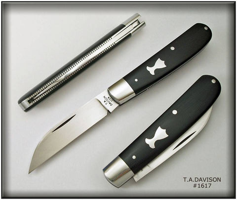 Todd Davison Black G-10 Sway Back Folder.  #1617