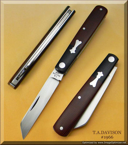 Todd Davison Custom Beautiful Two Tone Shadow Pattern Folder   #1966