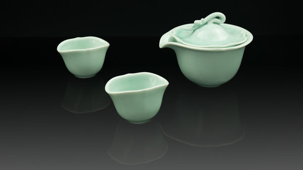 """Anta Pottery"" Celadon Echo of Summer Tea Set"