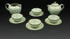 ".Anta Pottery. Emerald ""Fortunate Insight"" Luxurious Tea Set"