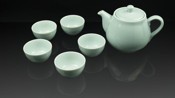 """Anta Pottery"" Celadon Classical Afternoon Tea Set"