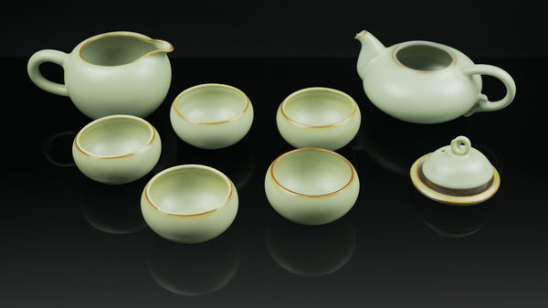 ".Anta Pottery. Emerald ""Deriving Nature"" Luxurious Tea Set"