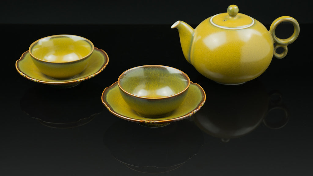 .Anta Pottery. Tea Powder Glaze Tea Set
