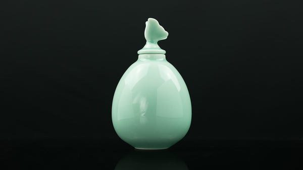 """Anta Pottery""  Celadon Summer Garden Tea Storage Unit"