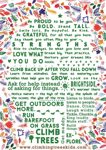 A3 Climbing Trees Manifesto Poster