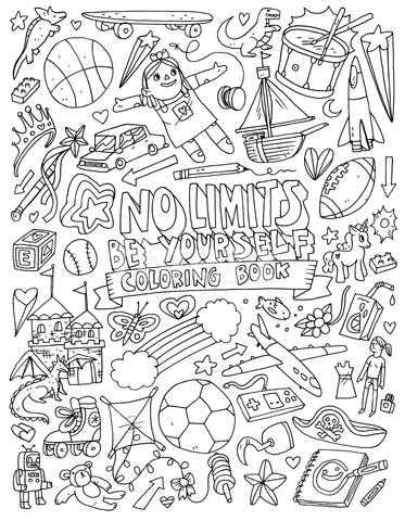 No Limits - Be Yourself - Gender-Stereotype-Busting Colouring Book