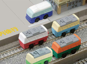 Iwako Assorted Eraser Train & Bus
