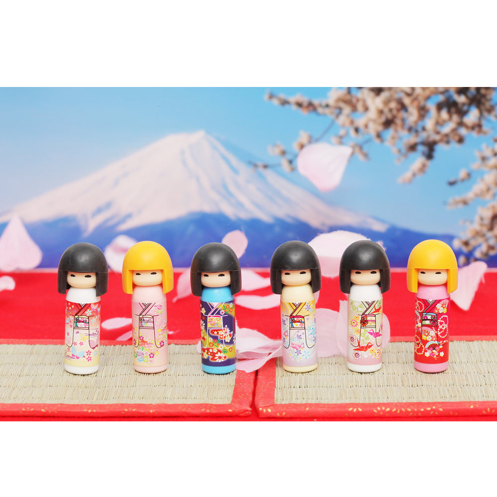 Iwako Assorted Eraser Kokeshi Japanese Doll
