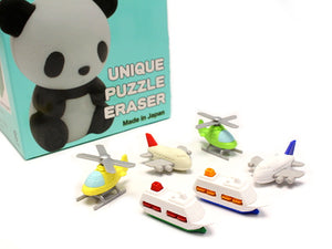Iwako Assorted Eraser Airplane, Helicopter & Ship