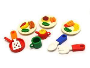 Iwako Assorted Eraser Lunch & Kitchen Set