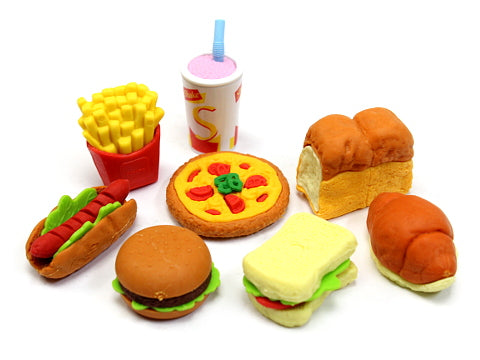 Iwako Assorted Eraser Fast Food