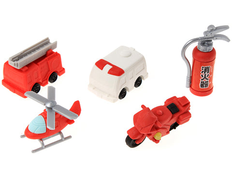 Iwako Assorted Eraser Fire Engine & Ambulance