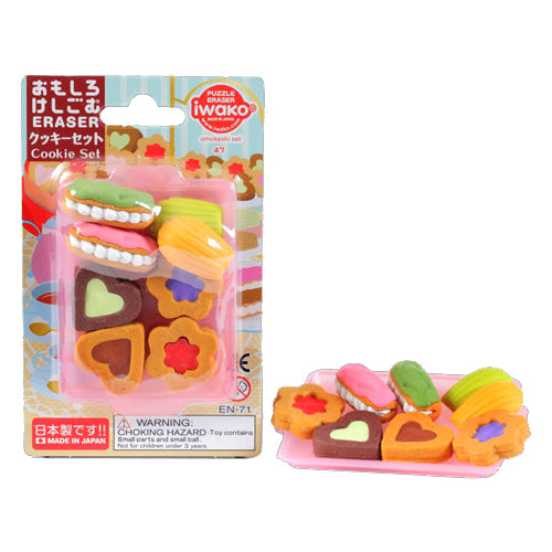 Iwako Blister Eraser Cookie Set