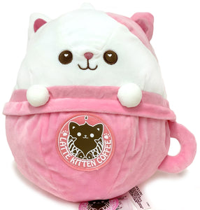 Latte Neko Coffee Cat Plush 12""
