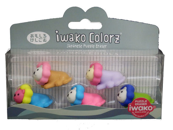 Iwako COLORZ Eraser Lion