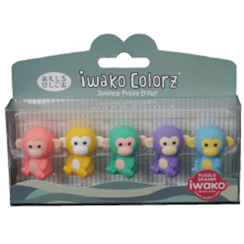 Iwako COLORZ Eraser Monkey