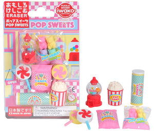 Iwako Blister Eraser Pop Sweets
