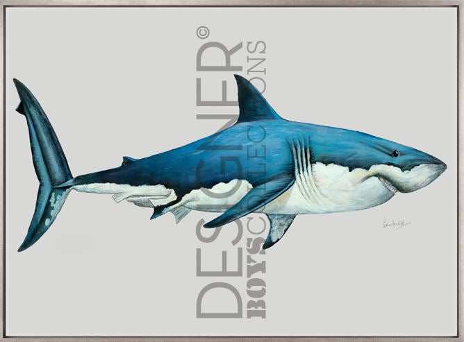 Great White Shark (CANVAS) - DESIGNERS CANDY