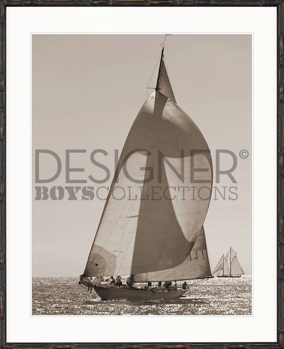 Nautical V (Sepia) Print - DESIGNERS CANDY