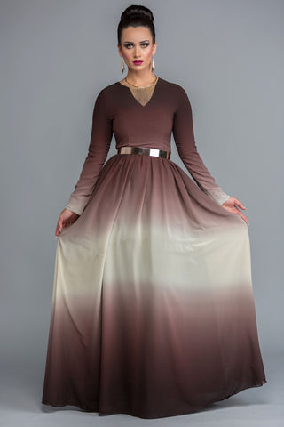 Arabella Brown Dress